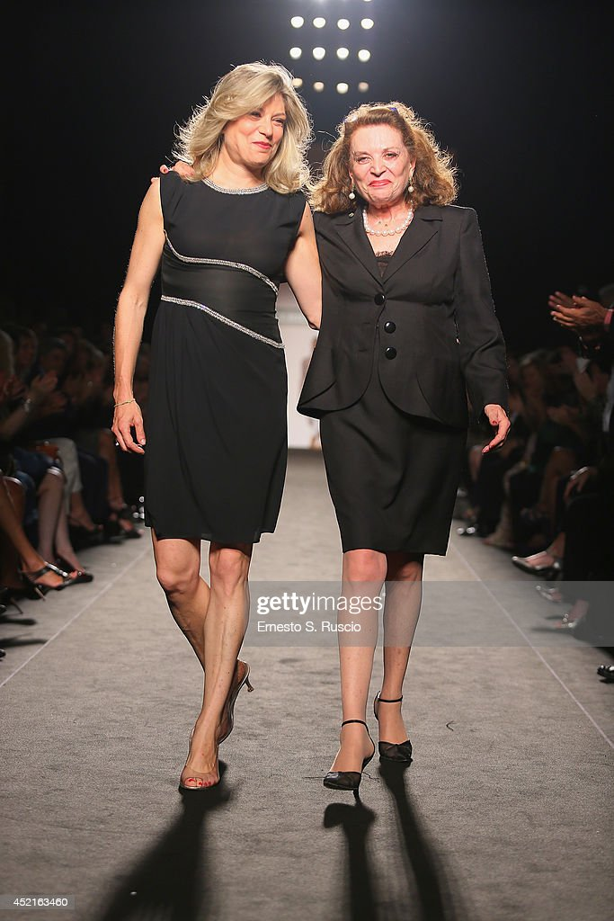 Gigliola Castellini Curiel and her mother <a gi-track='captionPersonalityLinkClicked' href=/galleries/search?phrase=Raffaella+Curiel+-+Fashion+Designer&family=editorial&specificpeople=9532709 ng-click='$event.stopPropagation()'>Raffaella Curiel</a> attends the Curiel Couture F/W 2014-2015 Italian Haute Couture colletion fashion show as part of AltaRoma AltaModa Fashion Week at Santo Spirito In Sassia on July 14, 2014 in Rome, Italy.