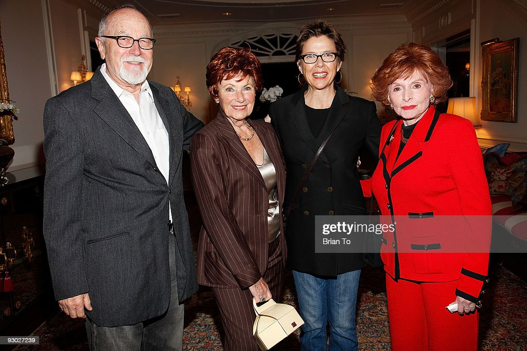 Gil Cates, Marion Ross, Annette Bening, and Patricia Berry attend Annette Bening And Kelly and Lou Gonda Host Actors Fund Cocktail Reception on November 12, 2009 in Beverly Hills, California.
