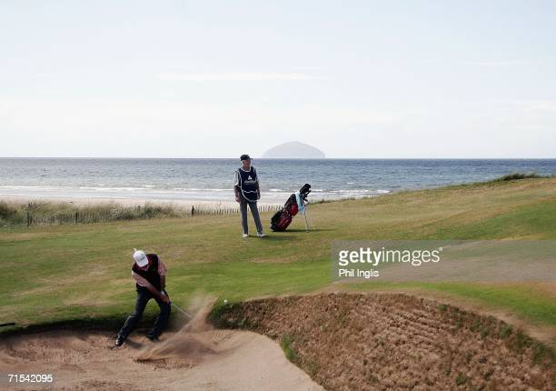 Gil Morgan of the USA in action on the 4th hole during the final round of The Senior British Open 2006 at The Westin Turnberry Resort on July 30 2006...