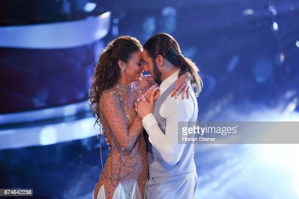 Gil Ofarim and Ekaterina Leonova perform on stage during the 6th show of the tenth season of the television competition 'Let's Dance' on April 28...