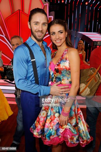 Gil Ofarim and Ekaterina Leonova pose after the 1st show of the tenth season of the television competition 'Let's Dance' on March 17 2017 in Cologne...