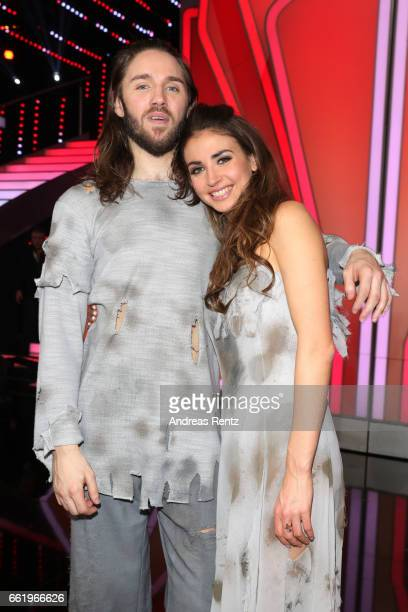 Gil Ofarim and Ekaterina Leonova pose after the 3rd show of the tenth season of the television competition 'Let's Dance' on March 31 2017 in Cologne...
