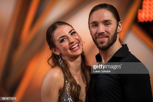 Gil Ofarim and Ekaterina Leonova stay together after the semi final of the tenth season of the television competition 'Let's Dance' on June 2 2017 in...