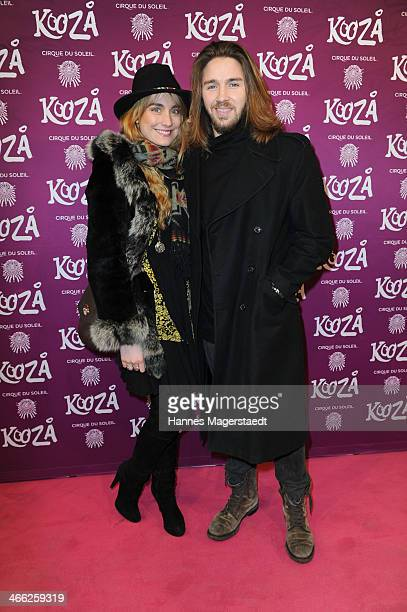 Gil Ofarim and his girlfriend Verena Brock attend 'Cirque Du Soleil' Kooza 2014 Munich Premiere at Theresienwiese on January 31 2014 in Munich Germany