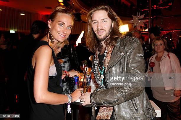 Gil Ofarim and his girlfriend Verena Brock attend the Echo Award 2014 party on March 27 2014 in Berlin Germany
