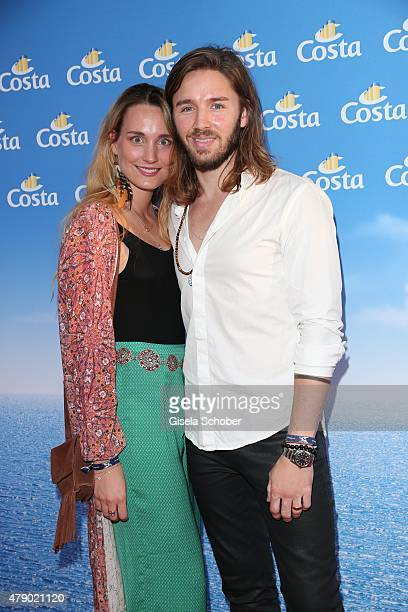 Gil Ofarim and his wife Verena attend the Movie meets Media party during the Munich Film Festival on June 29 2015 in Munich Germany