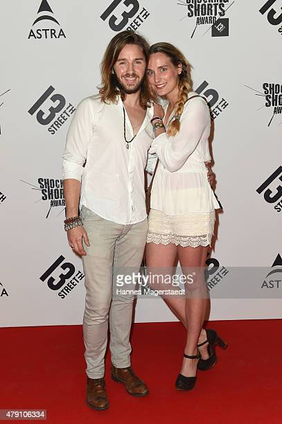 Gil Ofarim and his wife Verena attend the Shocking Shorts Award 2015 during the Munich Film Festival on June 30 2015 in Munich Germany