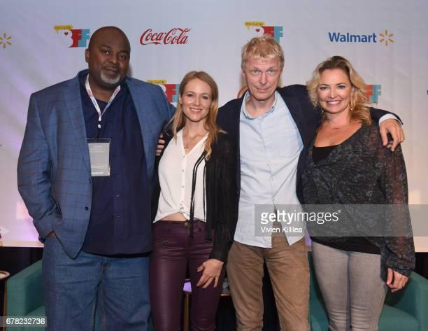 Gil Robertson Jewel Marius De Vries and Whitney Kroenke attend the 3rd Annual Bentonville Film Festival on May 3 2017 in Bentonville Arkansas