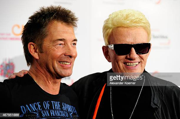 Gilbert and Heino are seen on red carpet after the national tv show 'Willkommen bei Carmen Nebel' at TUI Arena on March 28 2015 in Hanover Germany