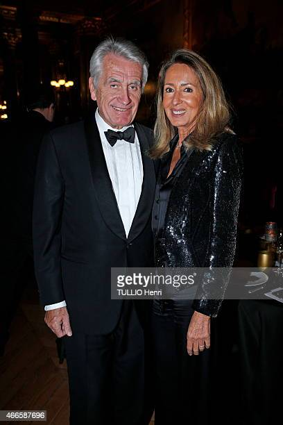 Gilbert and Nicole Coullier attends the Foundation Avec of Pr David Khayat Against Cancer Gala Event on february 02 2015 in Versailles France