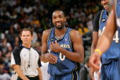 Gilbert Arenas of the Washington Wizards reacts during the game against the Golden State Warriors on December 18 2009 at Oracle Arena in Oakland...