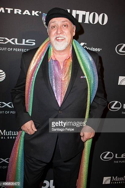 Gilbert Baker attends 2015 Out100 Celebration at Gustavino's on November 11 2015 in New York City