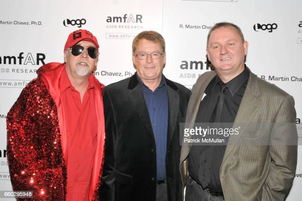 Gilbert Baker Cleve Jones and Kevin Frost attend AMFAR's Tenth Annual HONORING WITH PRIDE Celebration Hosted by ALAN CUMMING at Edison Ballroom on...