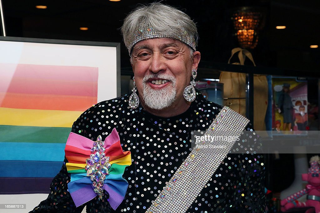 Gilbert Baker, creator of the rainbow flag attends the 27th Annual Night Of A Thousand Gowns at the Hilton New York on April 6, 2013 in New York City.