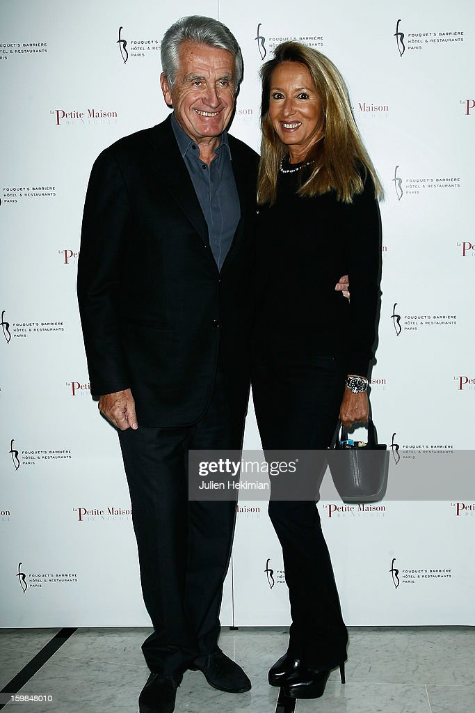Gilbert Coullier and his wife attend 'La Petite Maison De Nicole' Inauguration Photocall at Hotel Fouquet's Barriere on January 21, 2013 in Paris, France.