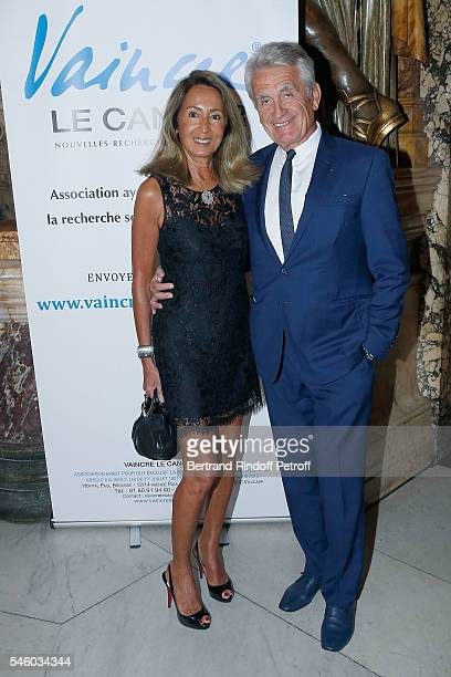 Gilbert Coullier and his wife Nicole attend 'Vaincre Le Cancer' Charity Gala Night at Opera Garnier on July 10 2016 in Paris France