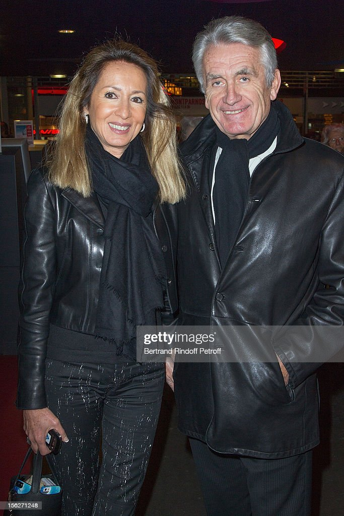 Gilbert Coullier and his wife Nicole attends 'Le Capital' premiere at Gaumont Parnasse on November 12, 2012 in Paris, France.