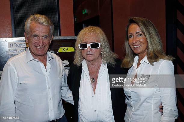 Gilbert Coullier Michel Polnareff and Nicole Coullier attend Michel Polnareff's concert at l'Olympia for the Bastille Day at L'Olympia on July 14...