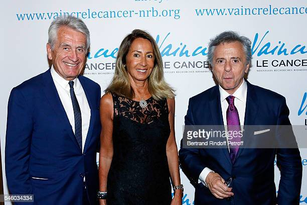 Gilbert Coullier Nicole Coullier and Michel Oks attend 'Vaincre Le Cancer' Charity Gala Night at Opera Garnier on July 10 2016 in Paris France