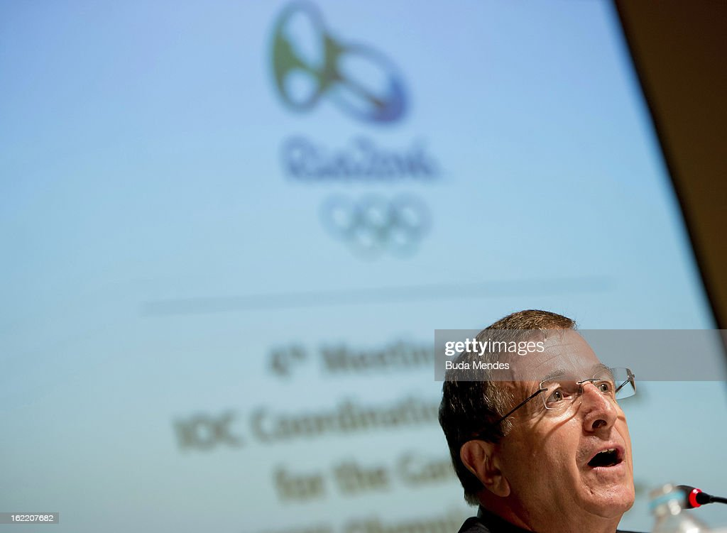 Gilbert Felli, IOC Executive Director for the Olympic Games during the press conference of 4th Meeting of IOC Coordination Commission for the Olympic Games at Windsor Hotel on February 20, 2013 in Rio de Janeiro, Brazil.