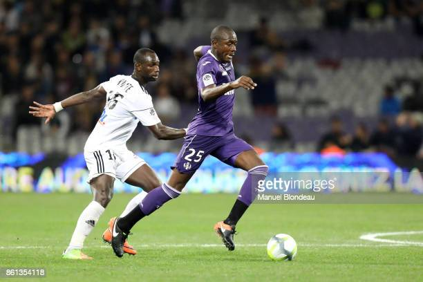 Gilbert Gianni Imbula of Toulouse during the Ligue 1 match between Toulouse and Amiens SC at Stadium Municipal on October 14 2017 in Toulouse