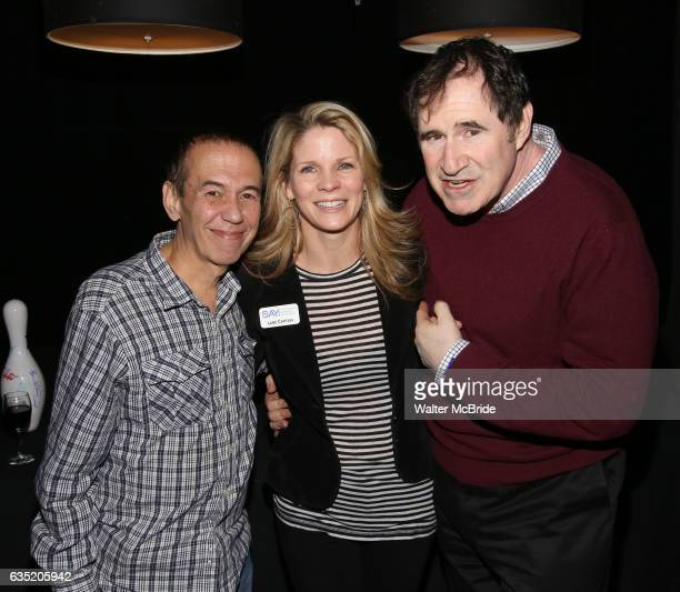 Gilbert Gottfried Kelli O'Hara and Richard Kind attend the 5th Annual Paul Rudd AllStar Bowling Benefit for at Lucky Strike Lanes on February 13 2017...