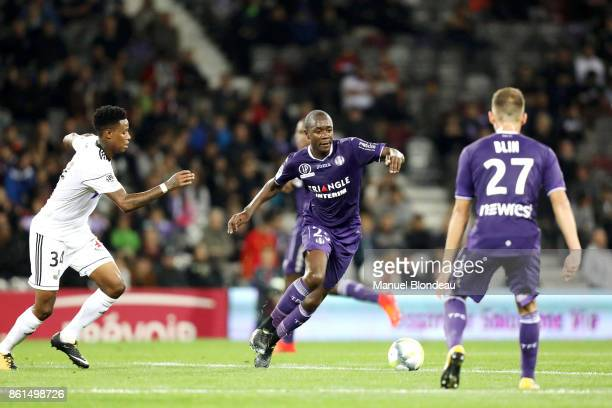 Gilbert Imbula of Toulouse during the Ligue 1 match between Toulouse and Amiens SC at Stadium Municipal on October 14 2017 in Toulouse