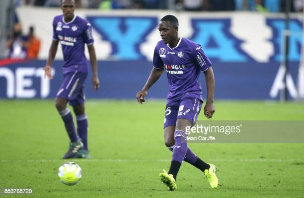 Gilbert Imbula Wanga aka Gianni Imbula of Toulouse during the French Ligue 1 match between Olympique de Marseille and Toulouse FC at Stade Velodrome...