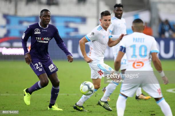 Gilbert Imbula Wanga aka Gianni Imbula of Toulouse Florian Thauvin of OM during the French Ligue 1 match between Olympique de Marseille and Toulouse...