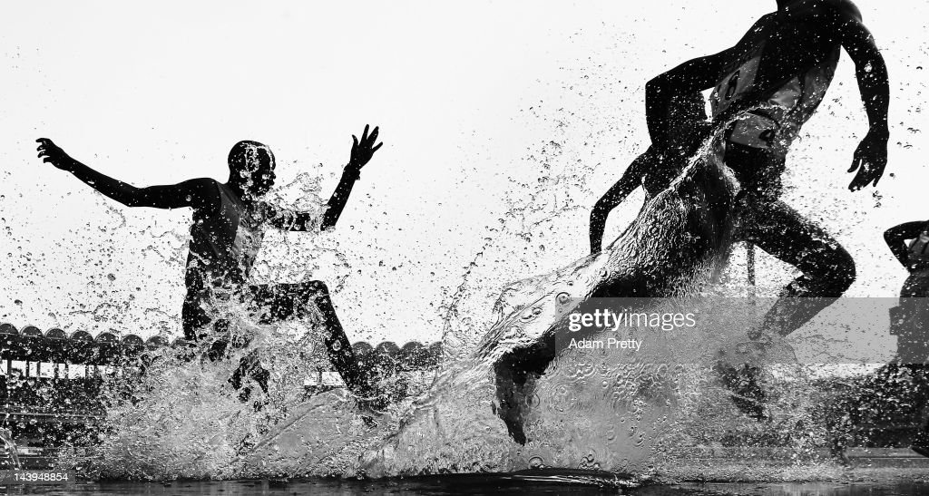 Gilbert Kirui of Kenya in action in the mens 3000m steeple chase during the Seiko Golden Grand Prix In Kawasaki at Todoroki Stadium on May 6 2012 in...