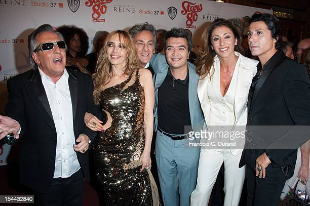 Gilbert Montagne Jeanne Mas JeanPierre Savelli Thomas Langmann Sabrina Salerno and JeanLuc Lahaye attend 'Stars 80' Film Premiere at Le Grand Rex on...