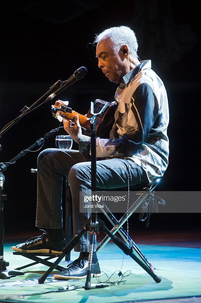 Gilberto Gil performs on stage at Palau de la Musica on May 2, 2016 in Barcelona, Spain.