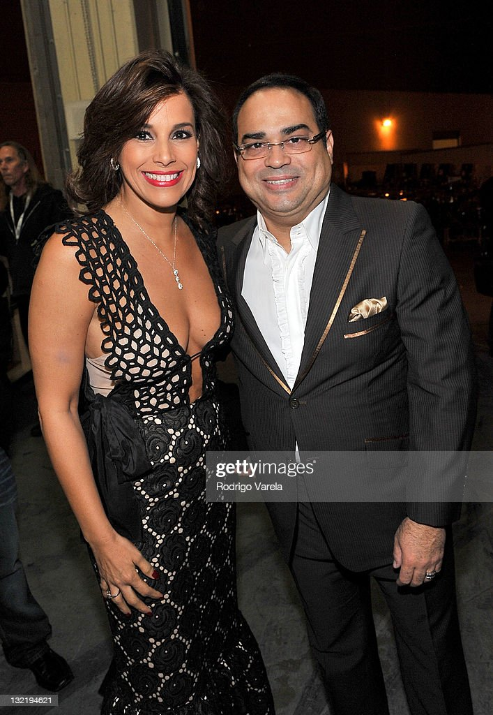 Gilberto Santa Rosa and guest attend the 12th Annual Latin GRAMMY Awards held at the Mandalay Bay Events Center on November 10 2011 in Las Vegas...