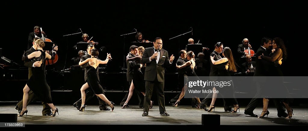Gilberto Santa Rosa with ensemble cast performs 'Forever Tango' Press Preview at Walter Kerr Theatre on July 11 2013 in New York City