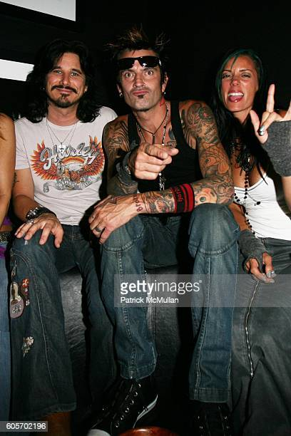 Gilby Clarke and Tommy Lee attend The Launch of the website rockstarmsncom with the stars of Mark Burnett Productions' Rock Star Supernova at The...