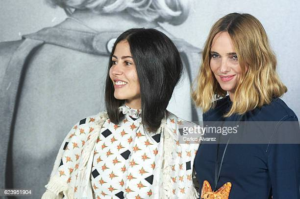 Gilda Ambrosio and Candela Novembre attend 'LOEWE Past Present Future' exhibition at Jardin Botanico on November 17 2016 in Madrid Spain