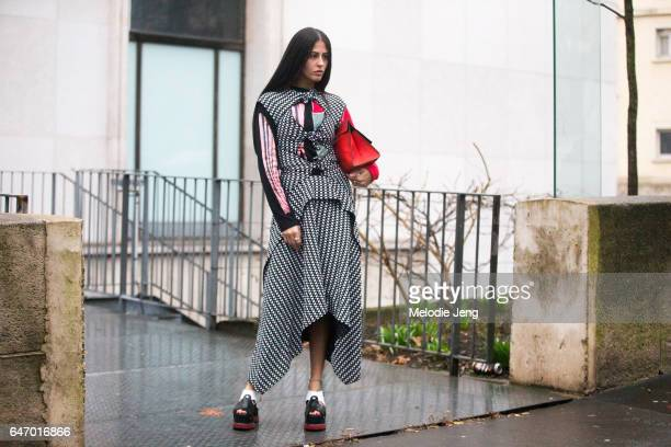 Gilda Ambrosio at Rochas on March 1 2017 in Paris France
