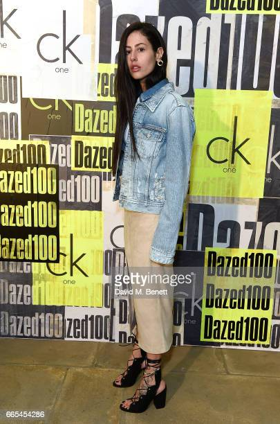 Gilda Ambrosio attends as Dazed ck one celebrate the launch of The Dazed100 on April 6 2017 in London England