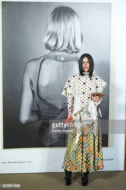Gilda Ambrosio attends 'LOEWE Past Present Future' exhibition at Jardin Botanico on November 17 2016 in Madrid Spain