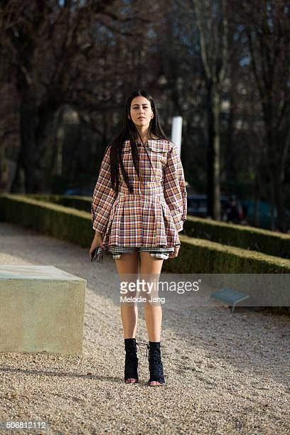Gilda Ambrosio attends the Dior Couture show at Musee Rodin on January 25 2016 in Paris France