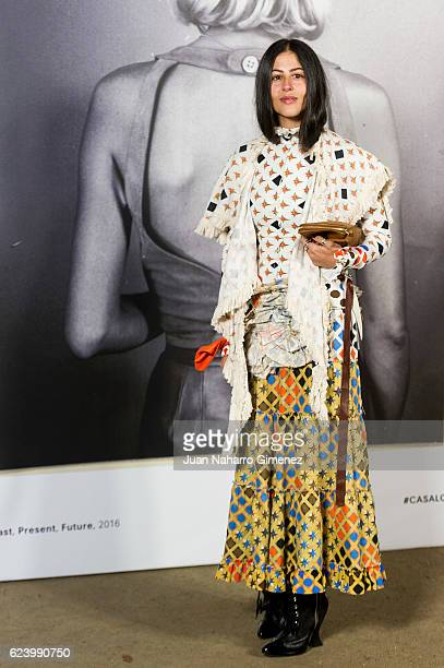 Gilda Ambrosio attends the 'LOEWE Past Present Future' inauguration exhibition at Jardin Botanico on November 17 2016 in Madrid Spain