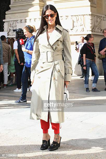 Gilda Ambrosio attends the Maison Margiela show as part of the Paris Fashion Week Womenswear Spring/Summer 2017 on September 28 2016 in Paris France