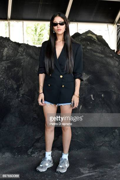 Gilda Ambrosio attends the Palm Angels show during Milan Men's Fashion Week Spring/Summer 2018 on June 19 2017 in Milan Italy
