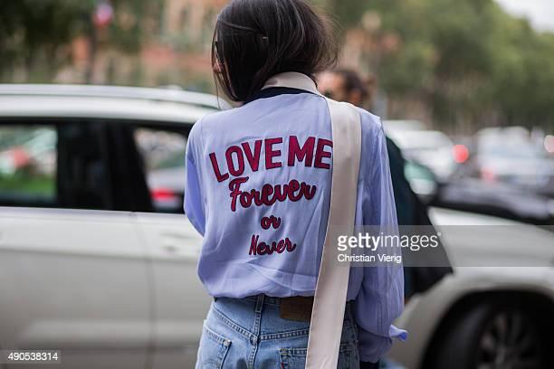 Gilda Ambrosio during Milan Fashion Week Spring/Summer 16 on September 28 2015 in Milan Italy