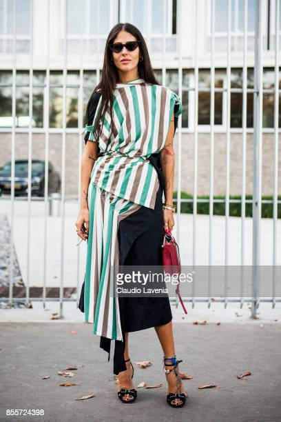 Gilda Ambrosio is seen after the Loewe show during Paris Fashion Week Womenswear SS18 on September 29 2017 in Paris France