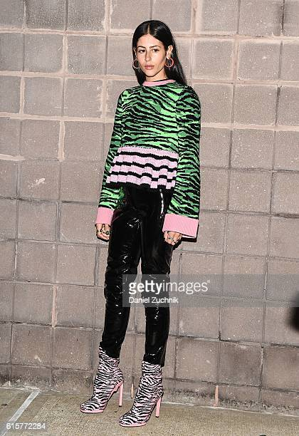 Gilda Ambrosio is seen outside the Kenzo x HM fashion show at Pier 36 on October 19 2016 in New York City
