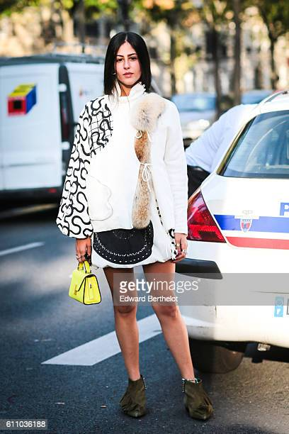 Gilda Ambrosio is seen outside the Rochas show at the Palais de Tokyo during Paris Fashion Week Spring Summer 2017 on September 28 2016 in Paris...