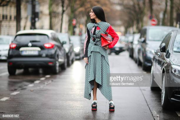Gilda Ambrosio is seen outside the Rochas show during Paris Fashion Week Womenswear Fall/Winter 2017/2018 on March 1 2017 in Paris France