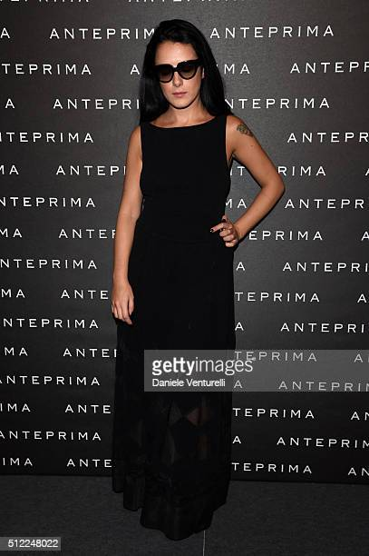 Gilda Koral Flora attends the Anteprima show during Milan Fashion Week Fall/Winter 2016/17 on February 25 2016 in Milan Italy