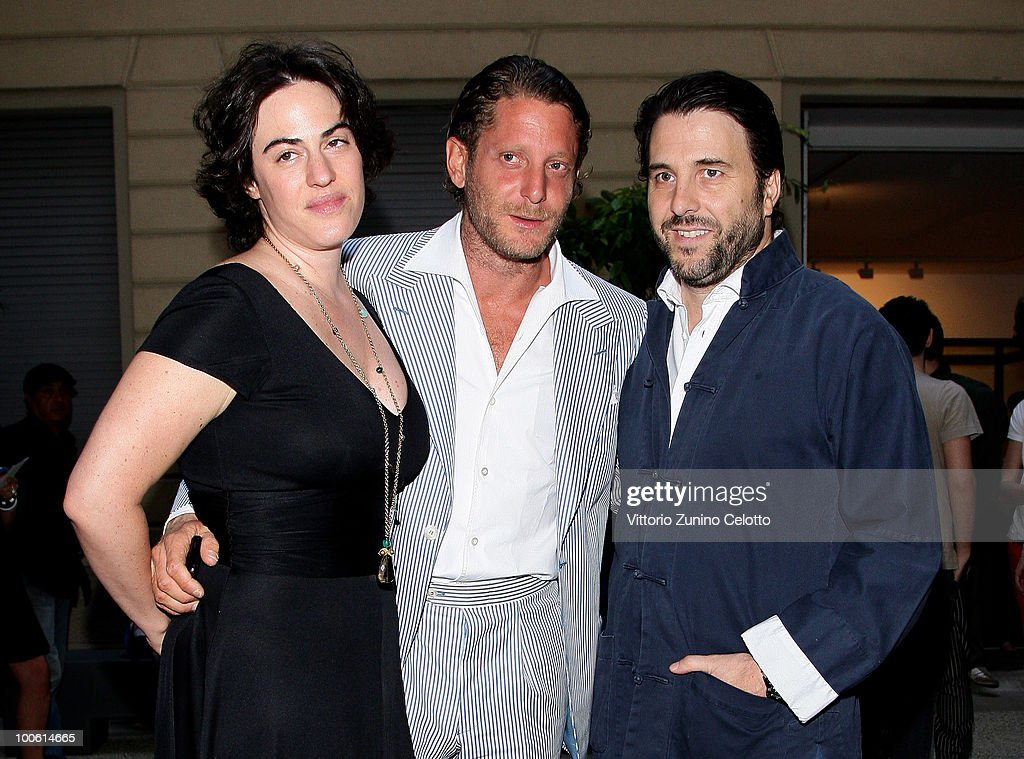 Gilda Moratti, Lapo Elkann, Emanuele Bonomi attend the Jake And Dinos Chapman Opening At The ProjectB Gallery on May 25, 2010 in Milan, Italy.